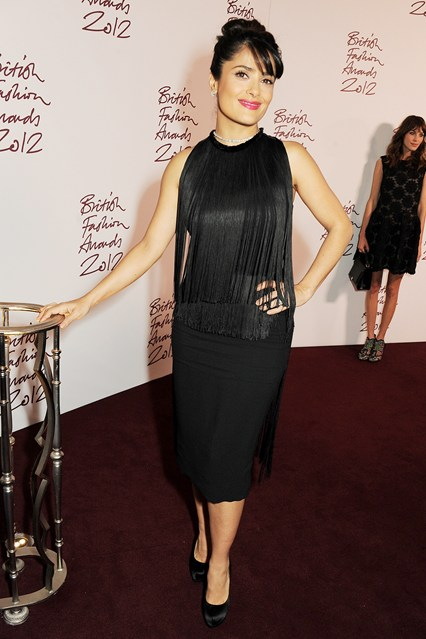 Stella McCartney fringed dresses-Salma-Hayek