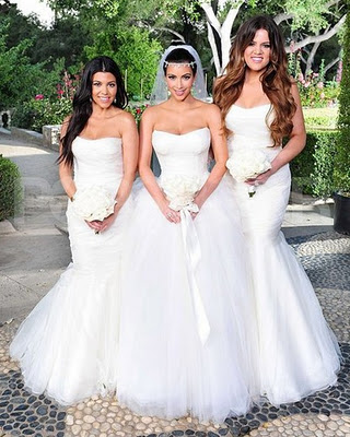 Kim Kardashian Wedding Dresses Album (PHOTOS) --