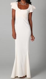 Wedding bell kim kardashian tweeted a wedding dress look for Zac posen short wedding dress